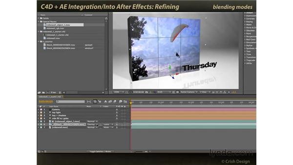 Refining the composite: CINEMA 4D and After Effects Integration