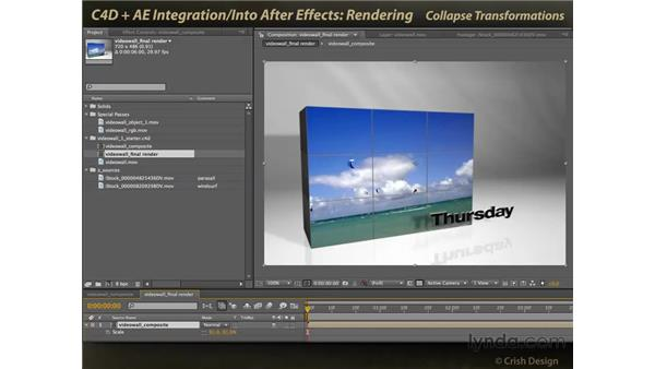 Rendering for video: CINEMA 4D and After Effects Integration