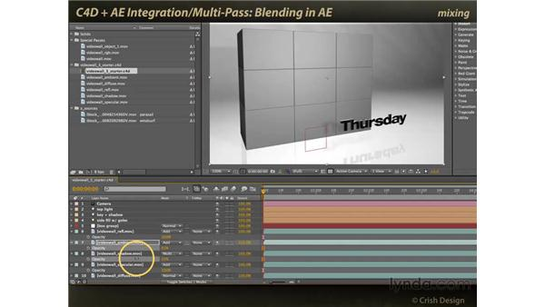 Blending the passes in After Effects: CINEMA 4D and After Effects Integration