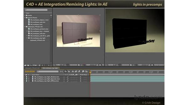 Remixing lights in After Effects: CINEMA 4D and After Effects Integration