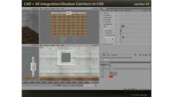 Catcher locations in CINEMA 4D: CINEMA 4D and After Effects Integration