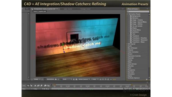 Refining the shadows: CINEMA 4D and After Effects Integration