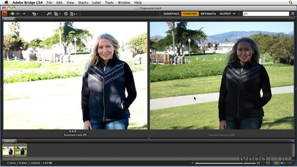 Reviewing the exposure lock shots: Getting Pro Results from a Compact Camera