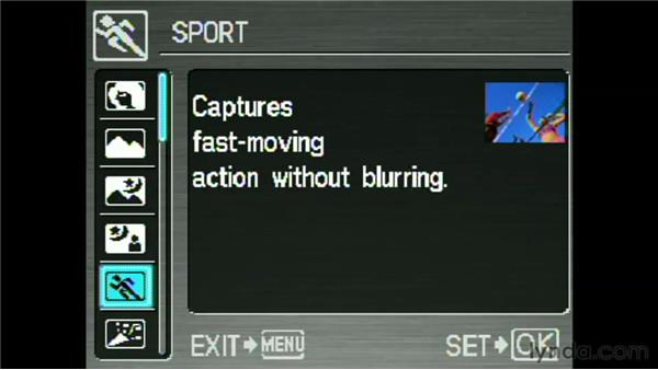 Using scene modes: Getting Pro Results from a Compact Camera