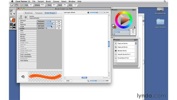 Modifying a brush with the Brush Creator: Corel Painter 11: Mastering Brushes
