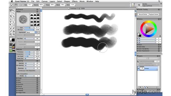Painting with acrylics: Corel Painter 11: Mastering Brushes