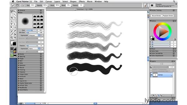 Painting with gouache: Corel Painter 11: Mastering Brushes