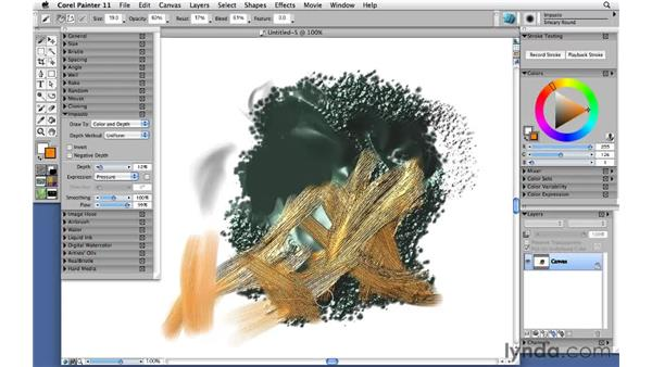 Painting with impasto: Corel Painter 11: Mastering Brushes
