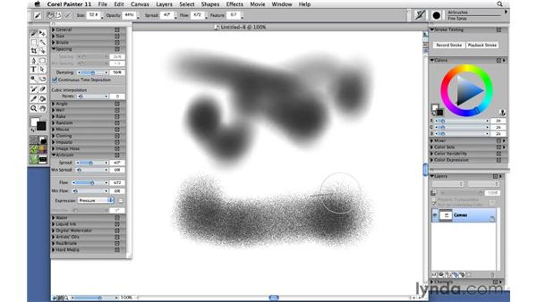 Painting with airbrushes: Corel Painter 11: Mastering Brushes