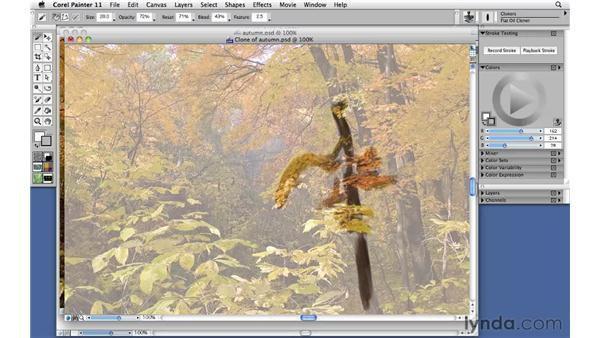 Using cloners: Corel Painter 11: Mastering Brushes