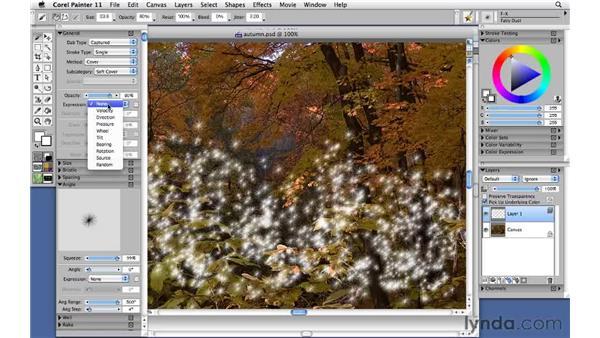 Using FX brushes: Corel Painter 11: Mastering Brushes