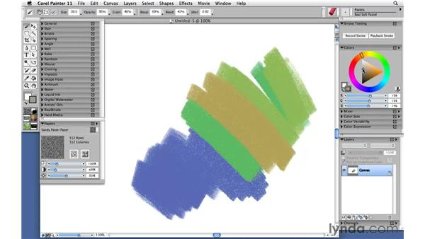 Painting with pastels: Corel Painter 11: Mastering Brushes