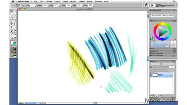 Drawing with crayons: Corel Painter 11: Mastering Brushes