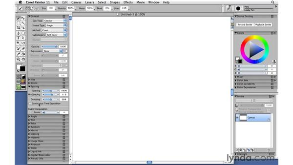 Configuring the Leaky Pen: Corel Painter 11: Mastering Brushes