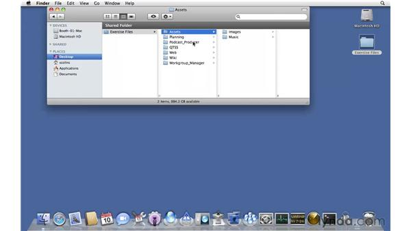 Using the exercise files: Mac OS X Server 10.6 Snow Leopard Essential Training