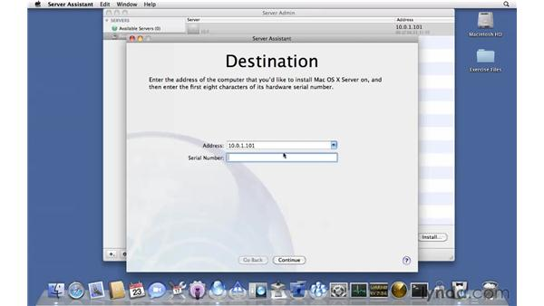 Installing Snow Leopard Server remotely: Mac OS X Server 10.6 Snow Leopard Essential Training