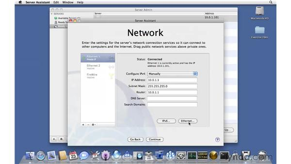 Setting up Snow Leopard Server remotely: Mac OS X Server 10.6 Snow Leopard Essential Training