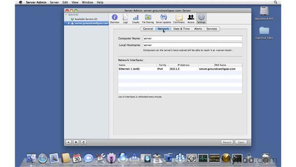 Brief tour of Server Admin: Mac OS X Server 10.6 Snow Leopard Essential Training