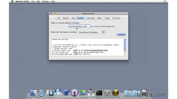 Testing DNS: Mac OS X Server 10.6 Snow Leopard Essential Training
