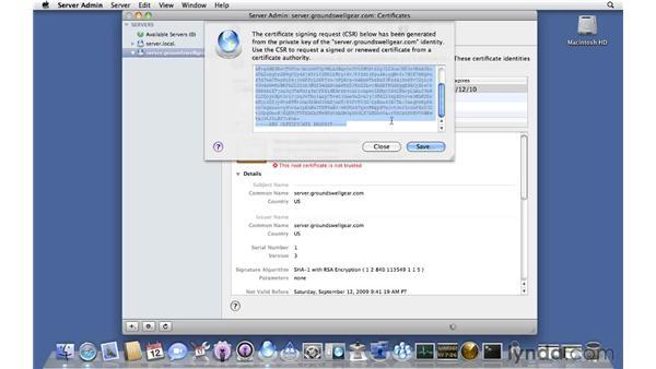 Purchasing an SSL certificate: Mac OS X Server 10.6 Snow Leopard Essential Training