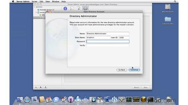 Setting up an Open Directory Master: Mac OS X Server 10.6 Snow Leopard Essential Training