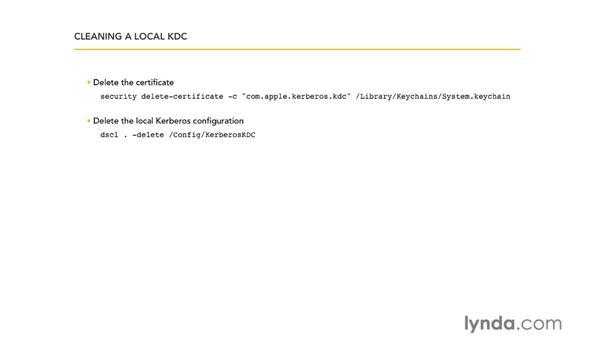 Testing Kerberos: Mac OS X Server 10.6 Snow Leopard Essential Training