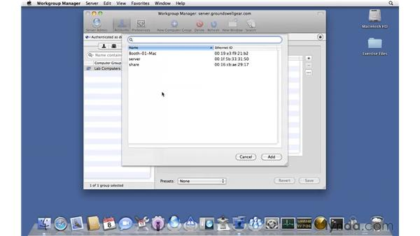 Computer groups: Mac OS X Server 10.6 Snow Leopard Essential Training