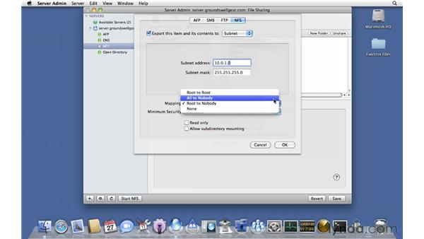 Setting up NFS: Mac OS X Server 10.6 Snow Leopard Essential Training