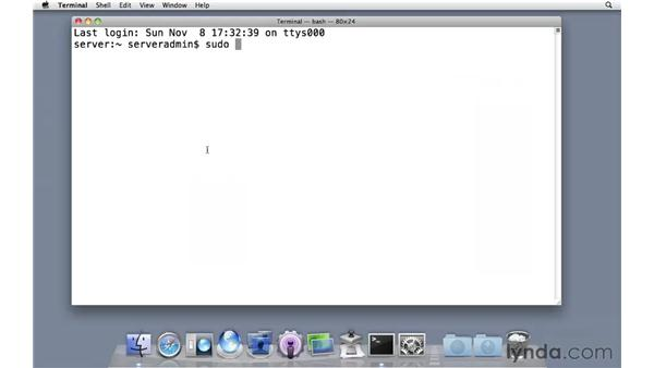 Copying files via the command line: Mac OS X Server 10.6 Snow Leopard Essential Training