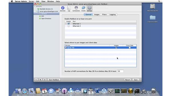 Setting up a NetBoot server: Mac OS X Server 10.6 Snow Leopard Essential Training