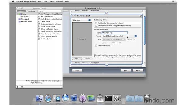Creating a NetInstall set: Mac OS X Server 10.6 Snow Leopard Essential Training