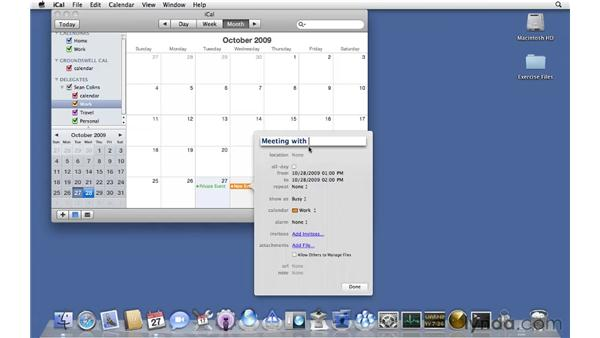 Connecting to iCal from a web client: Mac OS X Server 10.6 Snow Leopard Essential Training