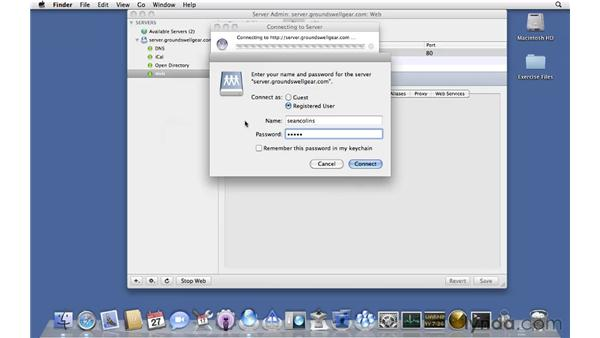 Configuring web options: Mac OS X Server 10.6 Snow Leopard Essential Training