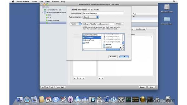 Configuring web realms: Mac OS X Server 10.6 Snow Leopard Essential Training