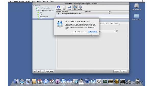 Configuring SSL security: Mac OS X Server 10.6 Snow Leopard Essential Training