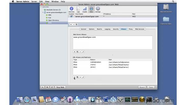 Configuring web aliases: Mac OS X Server 10.6 Snow Leopard Essential Training