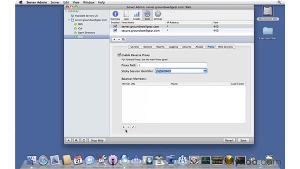 Configuring web reverse proxy: Mac OS X Server 10.6 Snow Leopard Essential Training