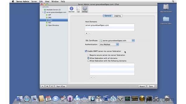 Configuring iChat Server: Mac OS X Server 10.6 Snow Leopard Essential Training