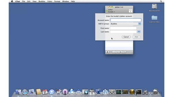 Connecting to iChat Server from a client: Mac OS X Server 10.6 Snow Leopard Essential Training