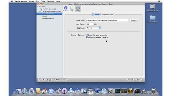Configuring Address Book Server: Mac OS X Server 10.6 Snow Leopard Essential Training