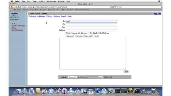 Using web mail: Mac OS X Server 10.6 Snow Leopard Essential Training