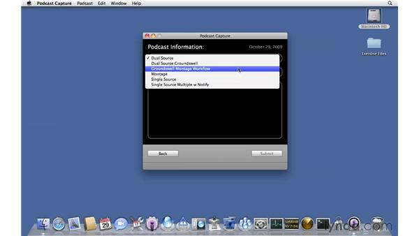 Capturing podcasts: Mac OS X Server 10.6 Snow Leopard Essential Training