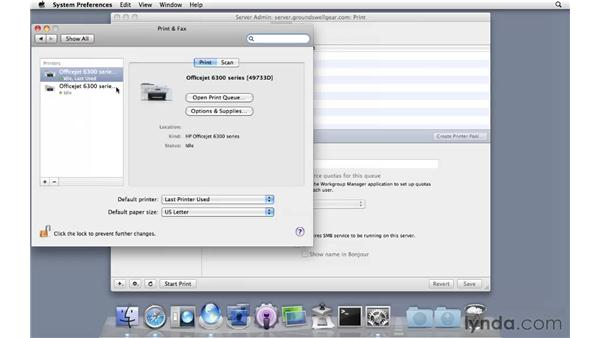 Setting up Print Services: Mac OS X Server 10.6 Snow Leopard Essential Training
