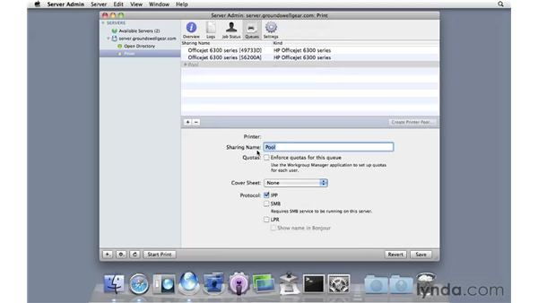 Creating a printer pool: Mac OS X Server 10.6 Snow Leopard Essential Training
