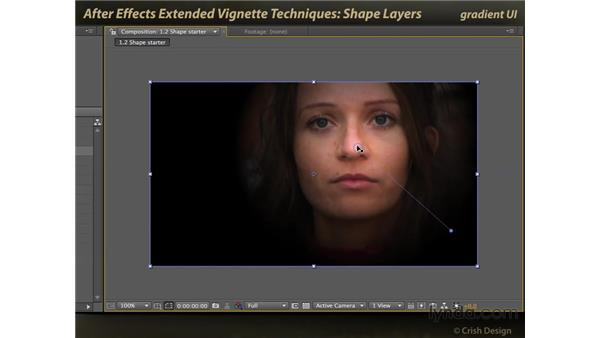 Shape layers and gradients: After Effects: Extended Vignette Techniques