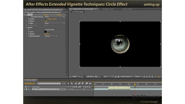 Circle effect: After Effects: Extended Vignette Techniques