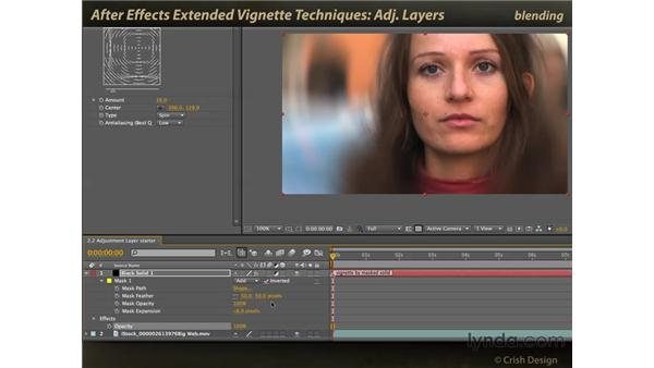 Adjustment layers: After Effects: Extended Vignette Techniques