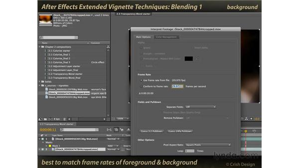Blending layers using masks: After Effects: Extended Vignette Techniques