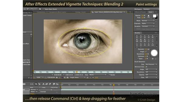 Blending layers using paint: After Effects: Extended Vignette Techniques