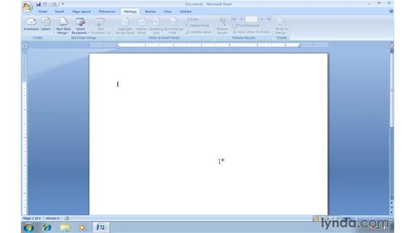 Setting up a return address: Word 2007: Creating Envelopes and Labels